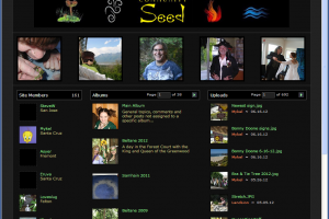 Screen capture of the CS multimedia site